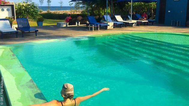 Les piscines de votre écolodge pour un séjour yoga et détente