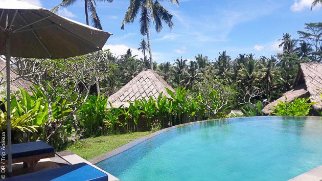 Votre hôtel au milieu des rizières à Bali en Indonésie