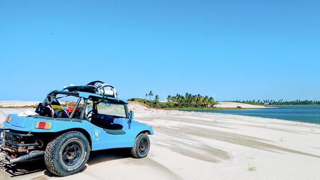 Quelques minutes de buggy et vous êtes sur les plus belles plages de Parajuru