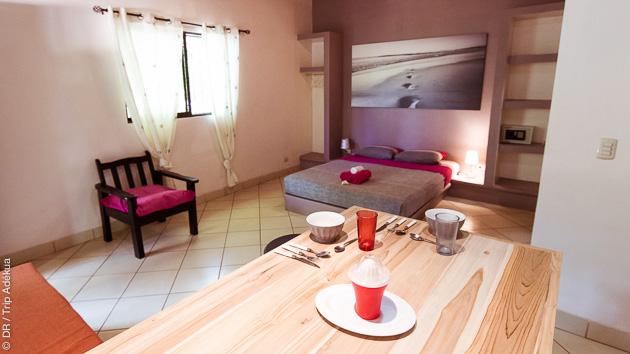 Notre eco-lodge vous offre tout le confort pendant votre séjour yoga