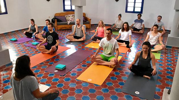 Notre shala de 100m2 pour votre stage de yoga à Imsouane