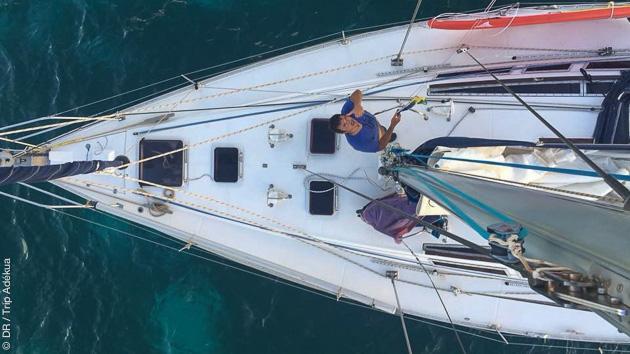 Laissez-vous transportez par votre skipper d'une baie à l'autre
